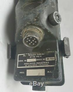 Vietnam US Army Military RT-196/PRC-6 Receiver Transmitter Walkie Talkie Radio
