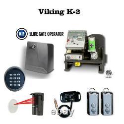 Viking K-2 Slide Gate Opener Photocell, Transmitter, Receiver & Wireless keypad