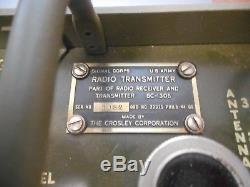 Vintage Bc-1306 Signal Corps Radio Receiver & Transmitter Very Clean With Cover