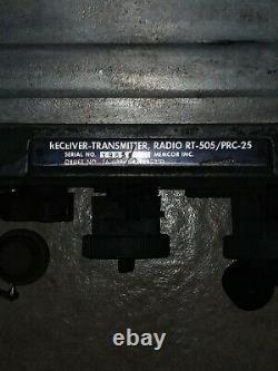 Vintage Military RT-505 / PRC-25 Radio Receiver Transmitter, Radio Corp. Of Am