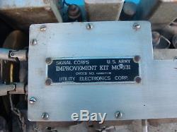 Vintage Military Signal Corps Receiver Transmitter Improvement Kit Model MC-531