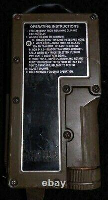 Vintage Military Survival Radio Receiver Transmitter With Service Tag AN/Prc-90-2