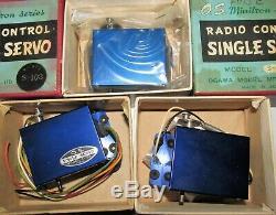 Vintage Os Minitron Model T6-e Radio Control Transmitter Receiver Servos New Rc