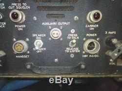 Vintage Radio Transmitter Receiver Navy bureau of Ships MBF Collins Radio Compan