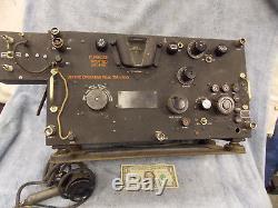 Vintage World War II 2 Signal Corps Radio transmitter receiver Farnsworth Army