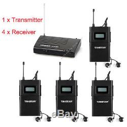 WPM 1Transmitter 4 Receiver Set 780-789Mhz Wireless Monitor System In-ear Stereo
