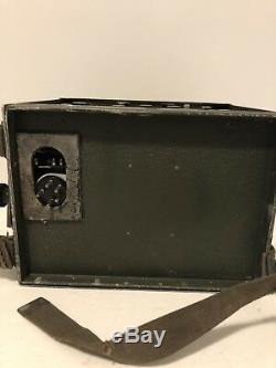 WWII NAVY TBY-7 RADIO CRI-43044 Transmitter-receiver UNTESTED Parts/repair
