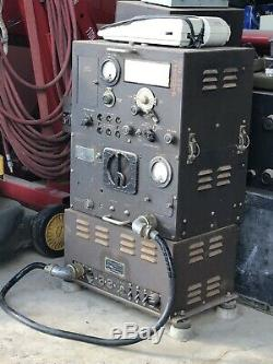 WWII Signal Corps Radio Receiver Transmitter BC669 B & Power Supply PE110&Cable