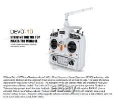Walkera Devo 10 Transmitter 10 channel Radio TX Black + RX1002 Receiver