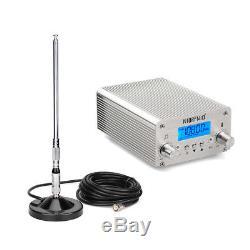 Wireles15W FM Transmitter Radio Broadcast+10Receiver for Church FarmsTranslation