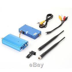 Wireless 1.2G 4CH Transmitter & Receiver Audio Video AV Camera CCTV Transceiver