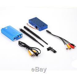 Wireless 1.3G 10W 4CH CCTV FPV Audio Video AV Transmitter & Receiver Antenna Set