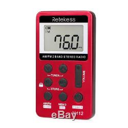 Wireless 15W PLL FM Transmitter Radio Stereo Station Broadcast&50Receiver Red