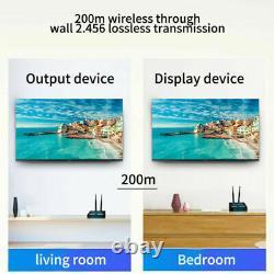 Wireless 200m 1080P HDMI Extender Transmitter Audio Video TV Receiver IR Remote