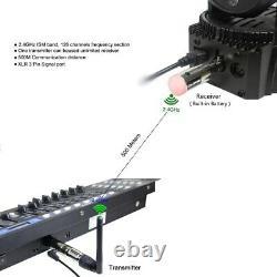 Wireless DMX512 Controller Built-in Power Receiver XLR Transmitter For DMX