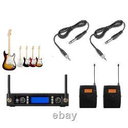 Wireless Guitar System Guitar Bass Wireless Digital Transmitter Receiver 200 Ch
