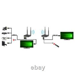 Wireless HDMI Extender Transmitter and Receiver Kit with Dual Antenna Long Range