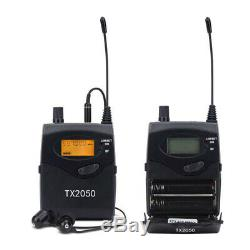 Wireless In Ear Monitor System 6 Receiver Transmitter 240 Channel UHF Pro Audio