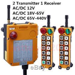 Wireless Industria Radio Remote Control Transmitter+Receiver Hoist Crane 12 Keys