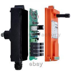 Wireless Remote Control Industrial Transmitter Receiver Hoist Crane Lift 6 Keys
