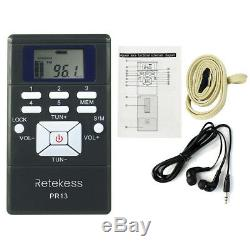 Wireless Tour Guide System 1FM Transmitter+20Radio Receiver for Guiding Meeting
