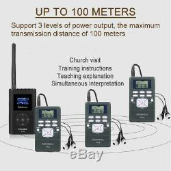 Wireless Tour Guide System Transmitter+20Receiver for Meeting/Church/Training