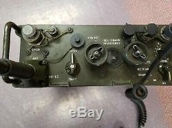 Working Military Radio PRC-77 Receiver Transmitter Antennae Handset Backpack